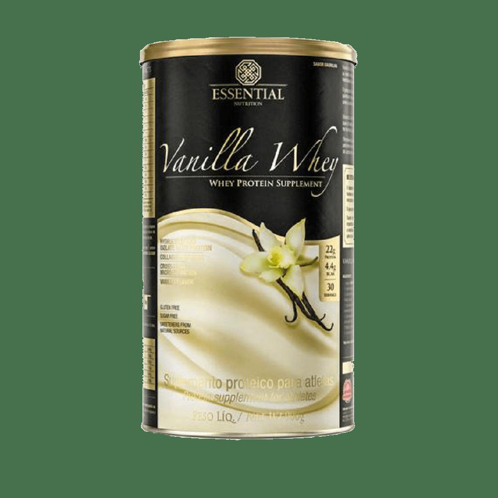 c97e44b0a Vanilla Whey Lata 900g Essential Nutrition - emporioquatroestrelas