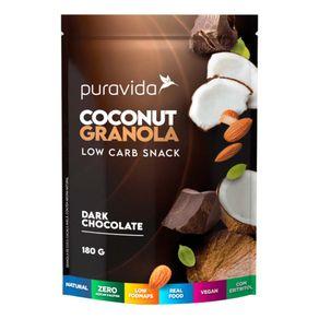 Coconut-Granola-Low-Carb-Snack-Dark-Chocolate-180g-PuraVida