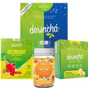 Desincha-Kit-Power-Wellness-Desin-Gummy-VIT-D3-Sunshine---Desincha-Misto---Desincha-Sabores-Abacaxi-com-Limao-Siciliano---Desinshot-7-Dias