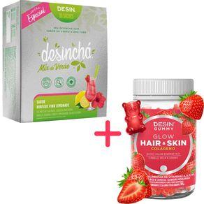 Desincha-Kit-Mix-de-Verao-Hibiscus-Pink-Lemonade---Desin-Gummy-Hair-Skin-Glow