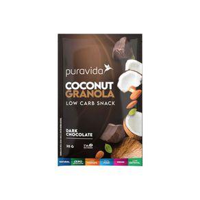Coconut-Granola-Low-Carb-Snack-Dark-Chocolate-30g-PuraVida